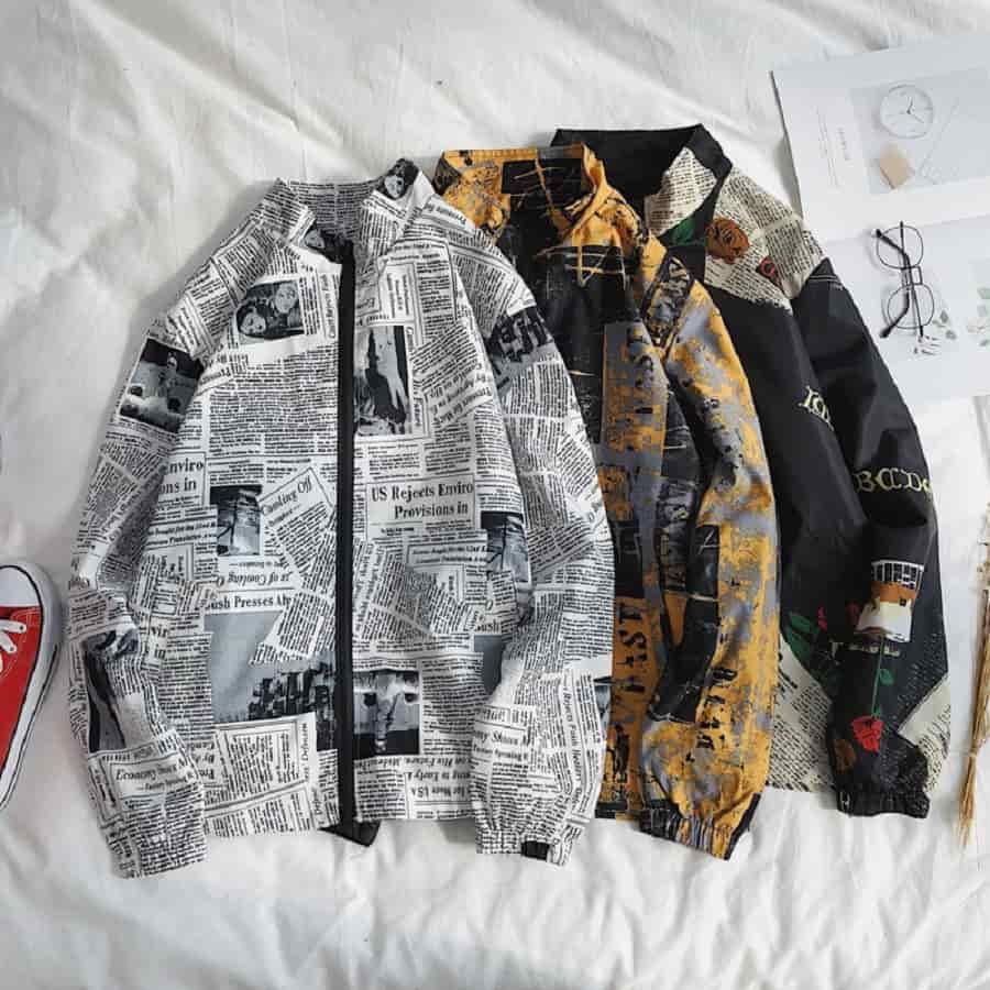 áo khoác nam họa tiết