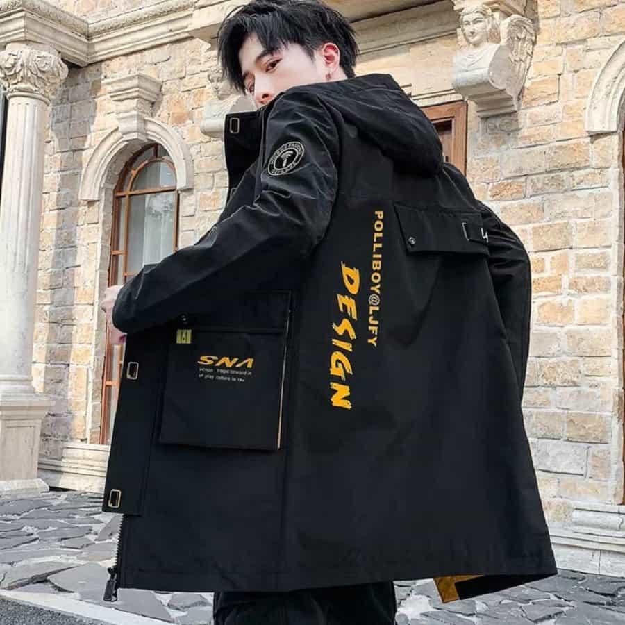 áo khoác túi hộp đen