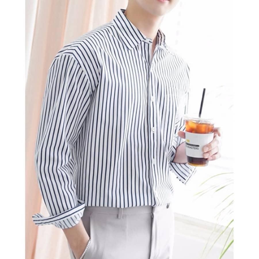 áo sơ mi trắng kẻ sọc đơn giản
