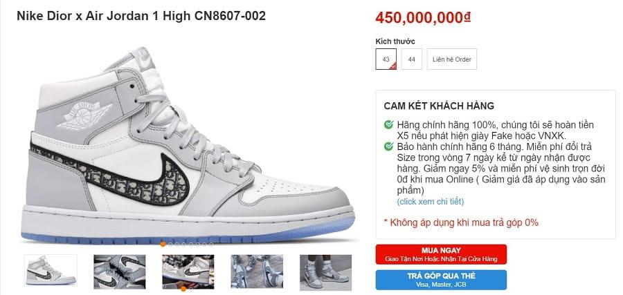 Nike Dior X Air Jordan 1 High CN8607-002