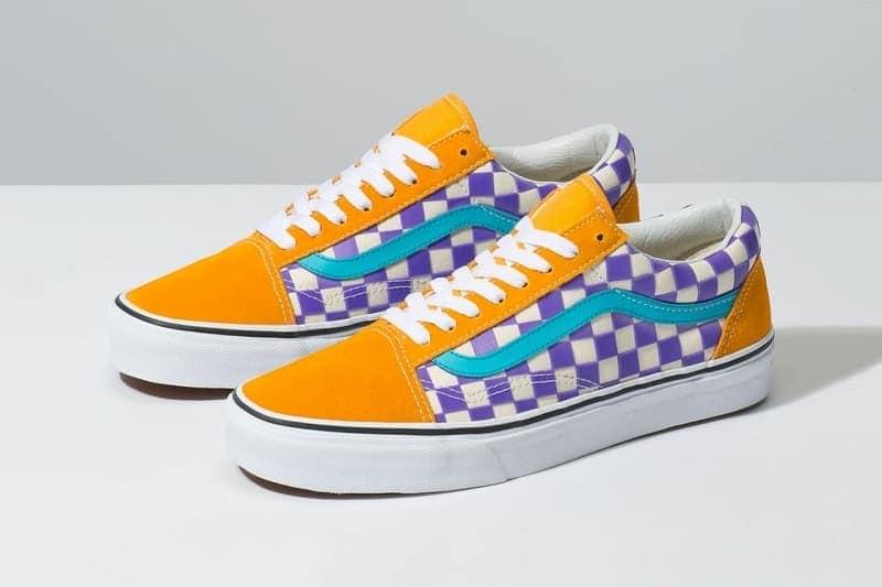 giày vans vàng caro