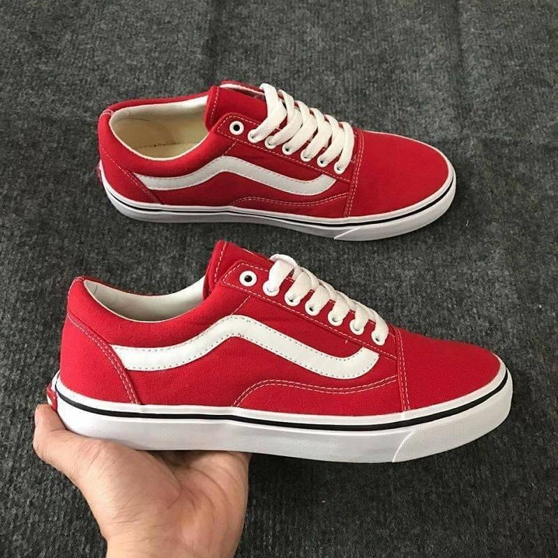 giày vans đỏ