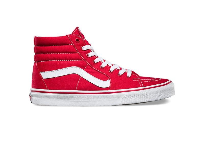 giày vans đỏ cổ cao