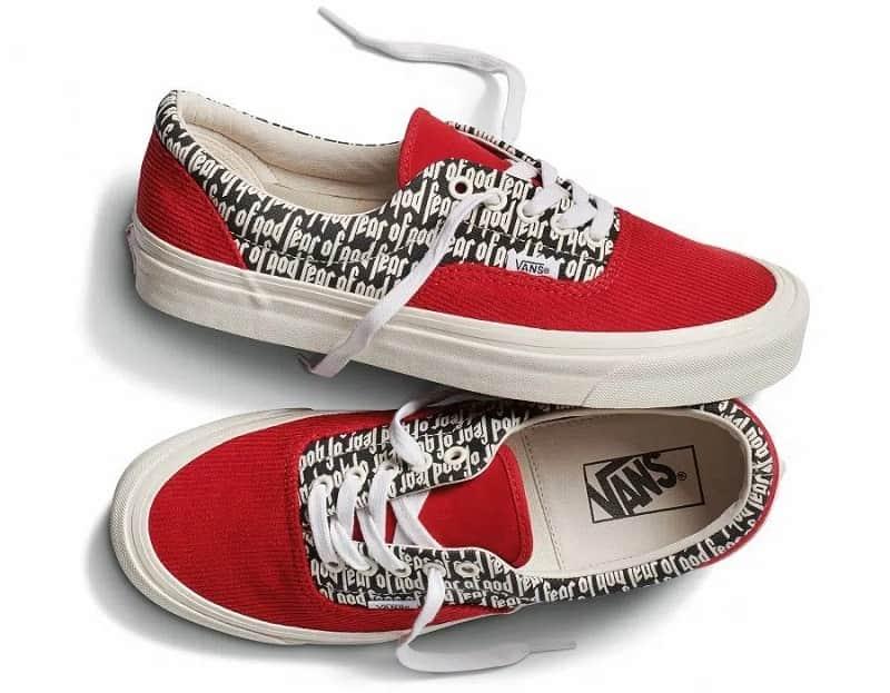 giày vans fear of god đỏ cổ thấp