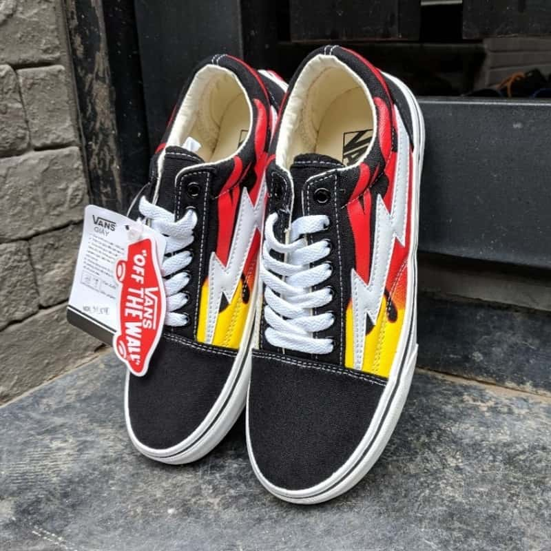 giày vans lửa cổ thấp