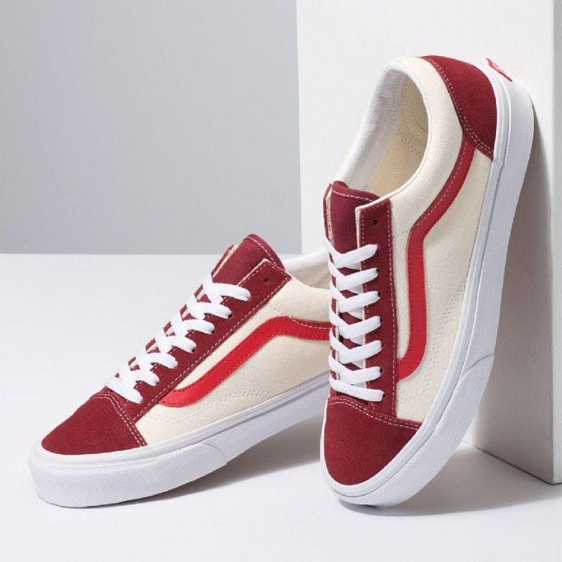 giày vans 36 retro sport đỏ trắng