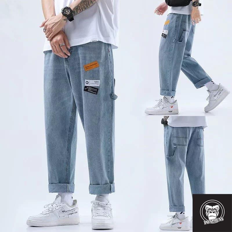 Phối quần Jean Baggy với áo phông đơn giản