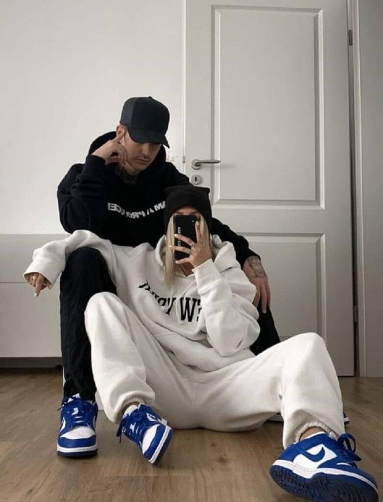 Set Couple Tone Sur Tone với giày Jordan 1 High