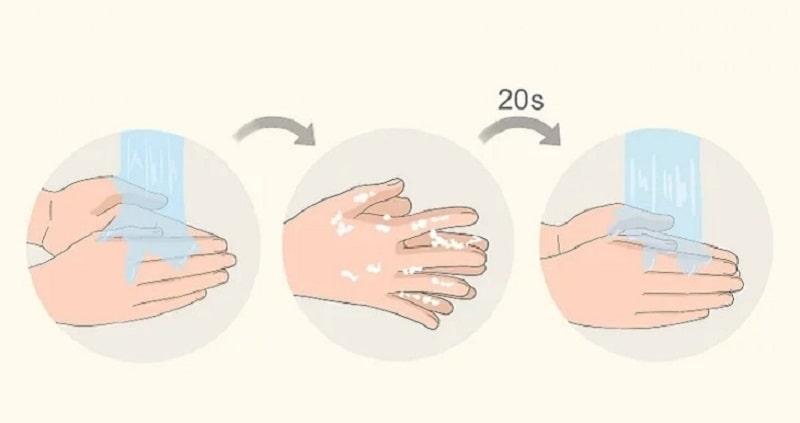 Hãy thường xuyên rửa tay để hạn chế tối đa nguy cơ lây lan