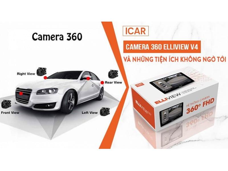 camera 360 độ ô tô elliview v5