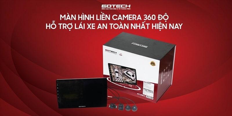 màn hình liền camera 360 ô tô gotech gt360 plus