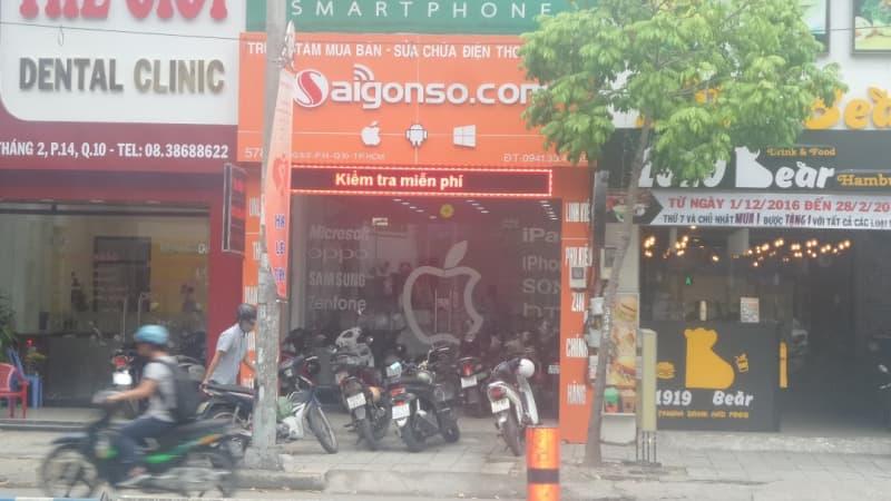 Cửa hàng sửa chữa điện thoại Sài Gòn Số