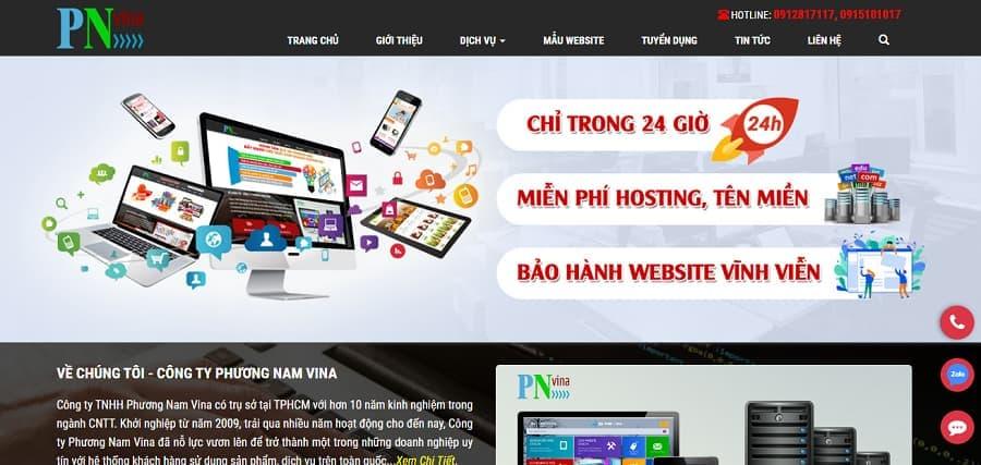 Công ty làm Web giá rẻ - Phuongnamvina.com