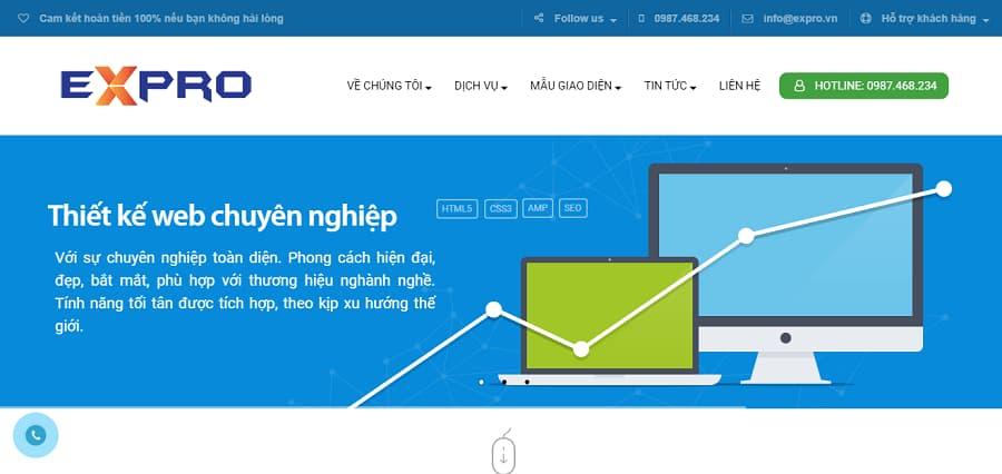 Dịch vụ thiết kế Web uy tín, giá rẻ - Expro.vn