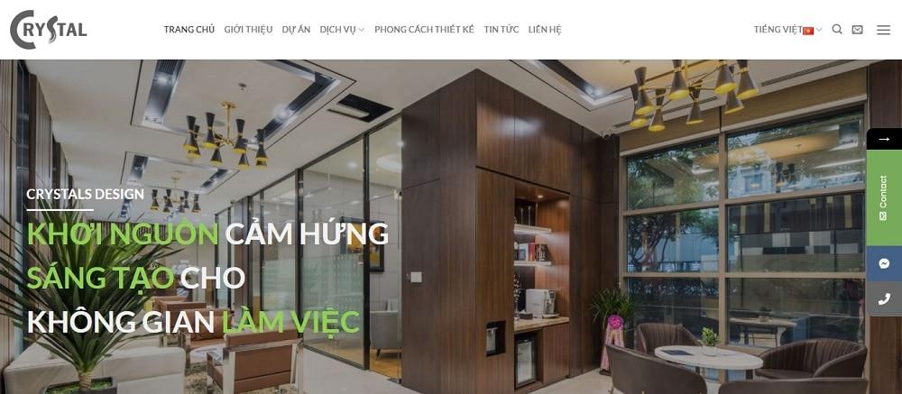 Crystal Design là địa chỉ thiết kế nội thất uy tín tại TPHCM