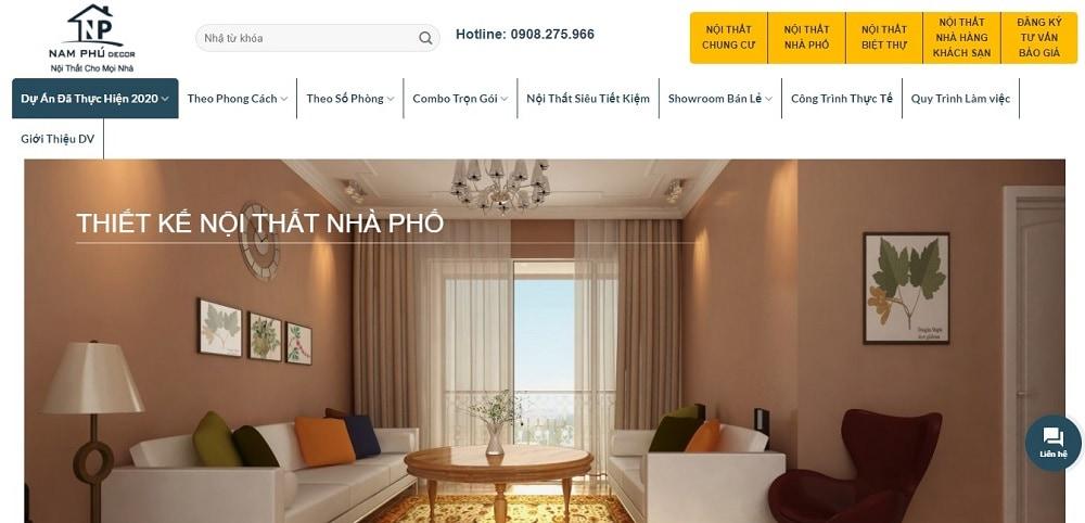 Nam Phú Design là đơn vị thiết kế nội thất uy tín tại TPHCM