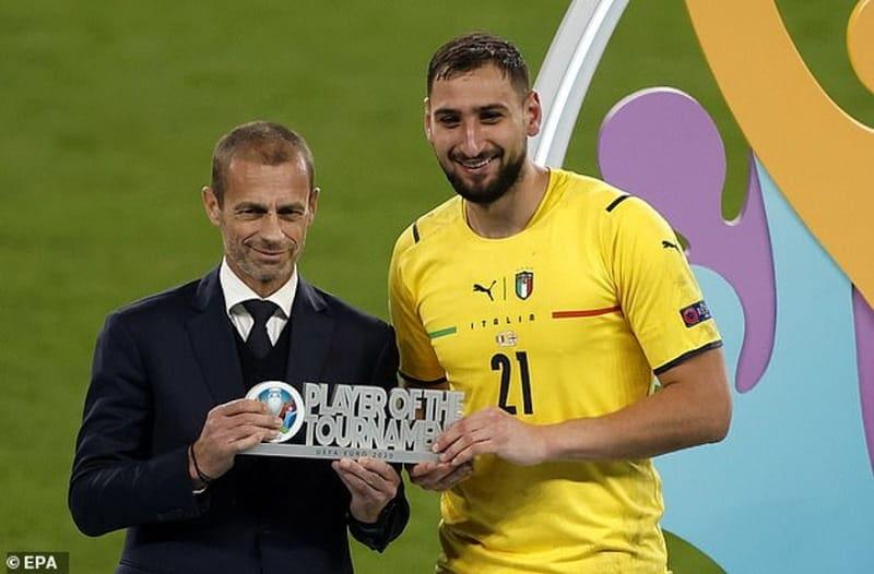 Gianluigi Donnarumma là cầu thủ hay nhất euro 2021