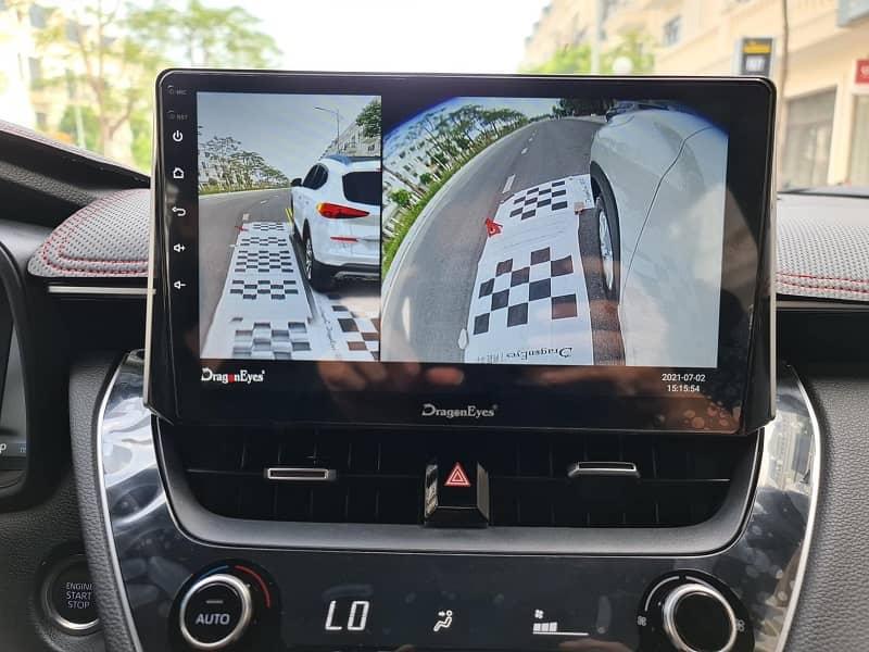 Tính năng tự động hiển thị góc Camera theo hướng xi nhan trên DVD Android Dragon Eyes