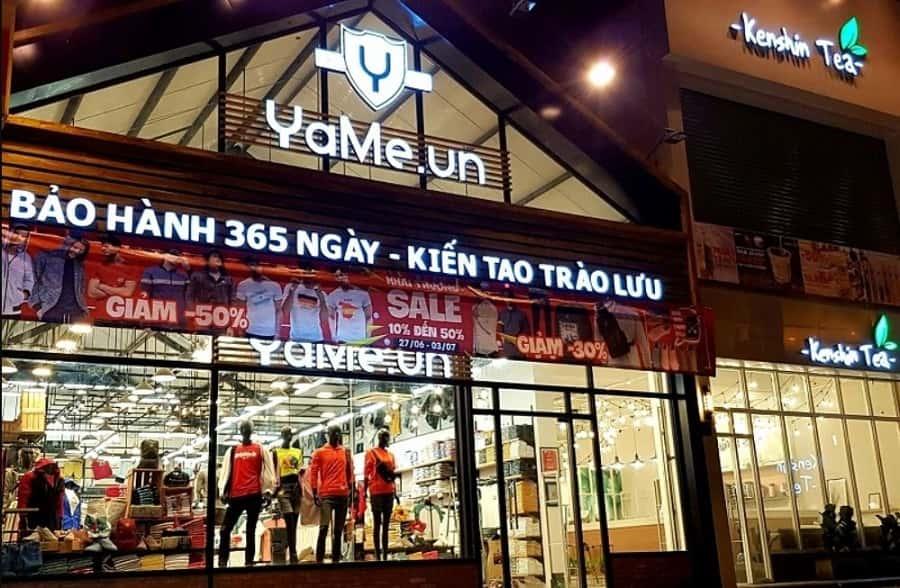 Yame là Shop đồ nam giá rẻ khá nổi tiếng tại TPHCM