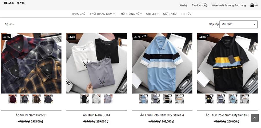 cửa hàng quần áo nam giá rẻ Black Devil