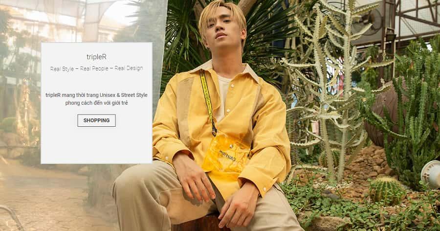 shop quần áo nam unisex TripleR tại tphcm