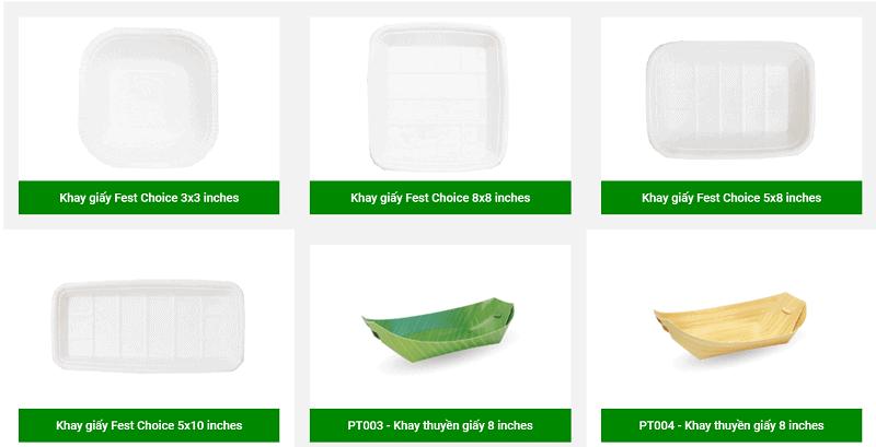 khay giấy đựng thức ăn eco pro