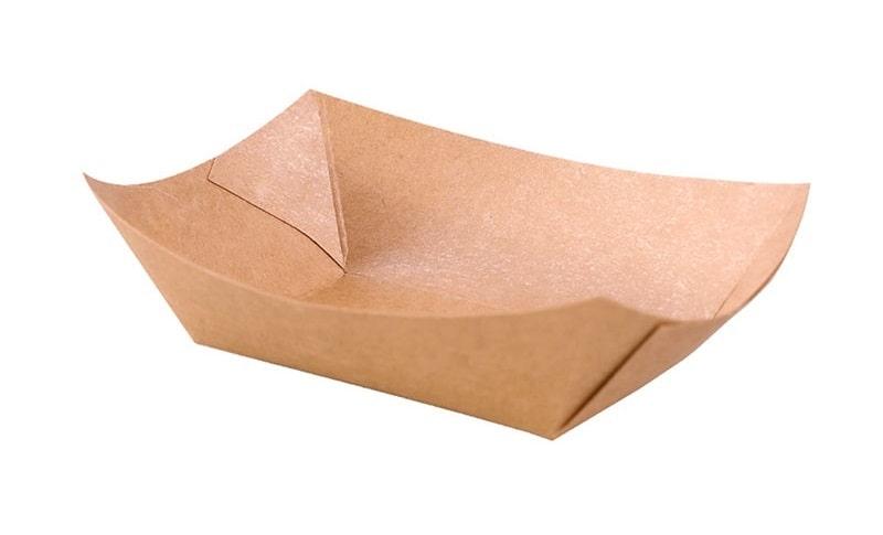 Khay giấy Kraft đựng thực phẩm - Queenpack