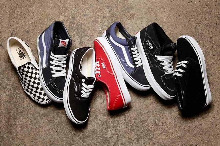 thương hiệu giày Vans nổi tiếng thế giới