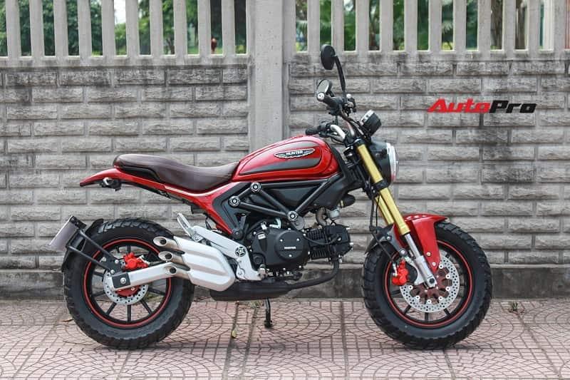 mẫu xe moto mini 125cc giá rẻ Ducati scrambler 110