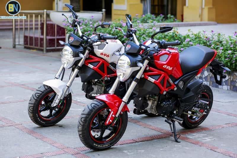 xe mô tô mini 125 phân khối giá rẻ Ducati monster 110