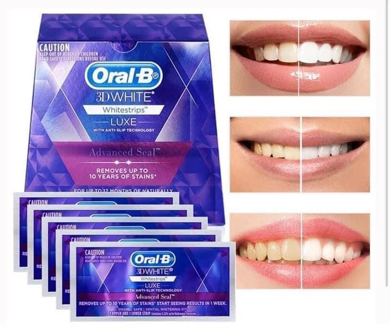 miếng dán trắng răng oral b