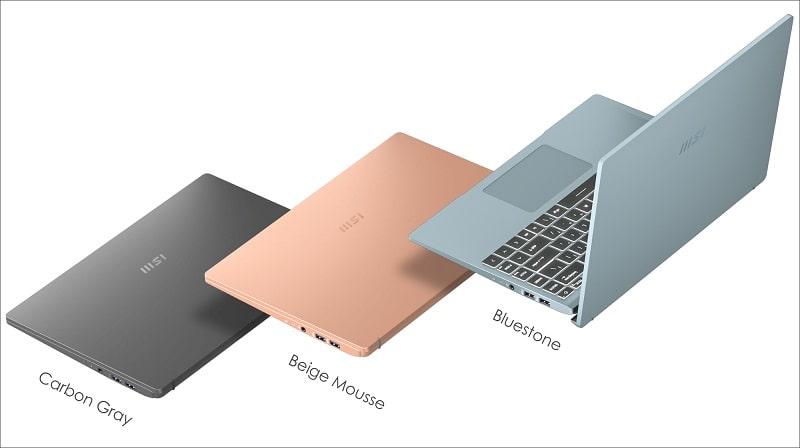 màu sắc laptop msi modern 14 b10mw