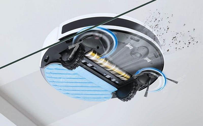 tính năng hút bụi của robot Ecovacs Deebot N8